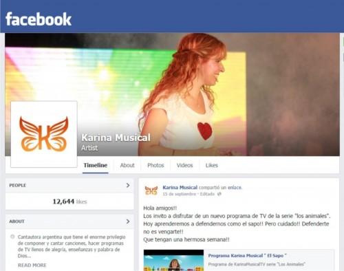 Branding Karina Musical Facebook